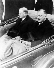 FRANKLIN D. ROOSEVELT PRESIDENT-ELECT WITH HERBERT HOOVER - 8X10 PHOTO (EP-763)