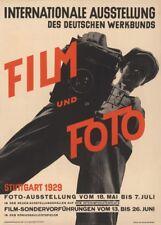Película Vintage Bauhaus y foto 1929 exhibición 250gsm A3 cartel de reproducción