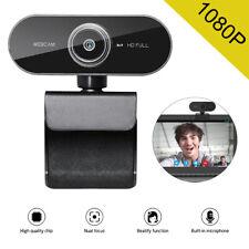 Webcam USB Computer Camera PC Laptop Desktop Video Cam W/ Microphone HD 1080P