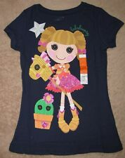 LALALOOPSY *w/ Pony Toy* Navy Glitter S/S Tee T-Shirt Girls sz 6/6x
