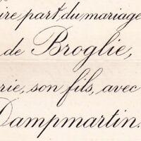 Prince François Marie Albert De Broglie Paris 1884 De Dampmartin