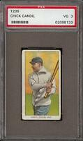 Rare 1909-11 T206 Chick Gandil Sovereign 460 Chicago Black Sox PSA 3 VG