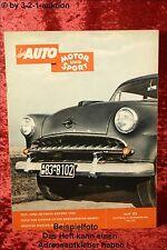 Das Auto 1954 AMS Auto Motor Sport 25/54 Opel Olympia Horex DB 300 SL