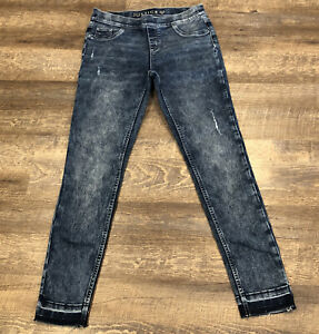 Girls Justice Legging Jegging Medium Rise Jeans Size 16 Distressed, Recycled