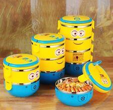 Déjeuner sac boîte alimentaire de stockage des conteneurs picnic voyage bento enfants minions