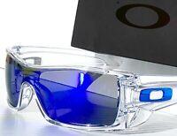 NEW* Oakley BATWOLF CLEAR w POLARIZED Galaxy Blue 2 lens set Sunglass 9101