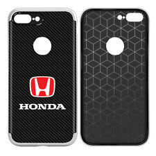 Honda Red Logo iPhone 7 Plus TPU Shockproof Carbon Fiber Look Cell Phone Case