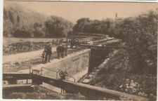 More details for chalford stroud glos. printed postcard view of canal lock & water works c.1912