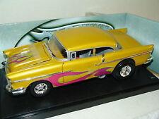 1:18 Hot Wheels 1957 Chevrolet Bel Air FLAMED personnalisée Br