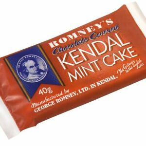 Kendal Mint Cake Romney's Chocolate Covered Kendal Mintcake Box of 42 x 40gBars