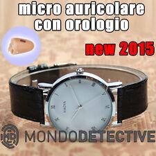 Micro auricolare cuffia invisibile bluetooth spy spia Orologio mini per telefono