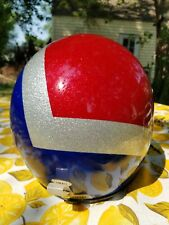 New Listingvintage Polaris snowmobile helmet Metallic Red White Blue Safetech Expert small.