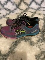 Brooks Glycerin 12 Purple Aqua Black Womens Size 8 Running Shoes
