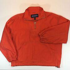 Old Navy Pullover Hooded Windbreaker Jacket Orange Nylon Medium