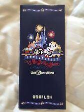 Walt Disney World 45TH Anniversary Magic Kingdom Guide Map October 1 2016