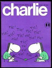 CHARLIE MENSUEL  N°44    SEPTEMBRE 1972   Parfait état