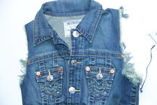 New Men True Religion Denim Jeans  Vest Blue XSmall XS