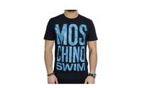 MoschinoT-shirt uomo nero con logo moschino swim in pitone  (112MSU)