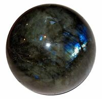 Labradorite Sphere Ball Reiki Healing Table Décor Natural Stone Gift 40-45MM
