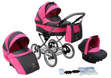 Baby Kinderwagen Buggy Kinderwagen Klassisch Retro Kinderwagen Set Autositz 3in1
