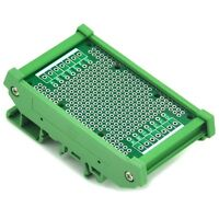 "DIN Rail Mounting Carrier Housing with Prototype PCB, 1.87"" x 2.83"""