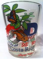 COSTA RICA PURA VIDA WILDLIFE SHOT GLASS SHOTGLASS