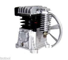 Twin Piston Air Compressor Head Pump 2 HP  115psi 8 bar