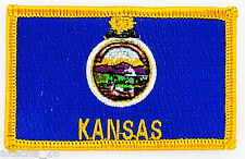 Ecusson Brodé PATCH drapeau KANSAS USA AMERICAIN ETATS UNIS FLAG EMBROIDERED