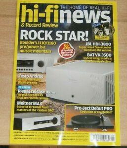 Hi-Fi News & Record Review magazine Sep 2021 Boulder 1110/1160 pre/power