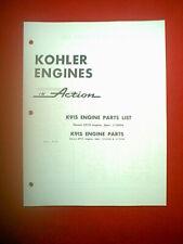 Kohler Engine Models K91S Parts Manual Mid 60'S