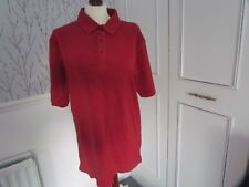 Red Polo Top Size Large