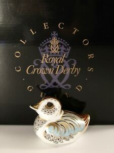 Royal Crown Derby Duckling Guild Paperweight Gold Stopper & Box Excellent