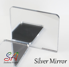 Silver Mirror Acrylic with Plain Back, Adhesive Back or Double Sided Mirror
