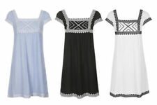 Square Neck Dresses for Women with Embroidered