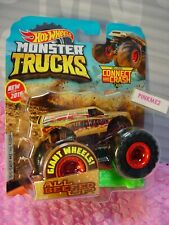 NEW 2019 MONSTER Truck ALL BEEFED UP 15/50☆Giant Wheels red hub ☆Hot Wheels
