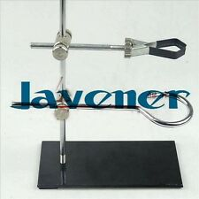 Portable 30cm retort stand iron stand with clamp clip lab ring flask clamp
