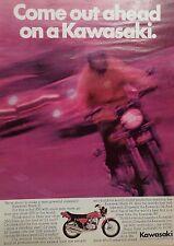 1972 KAWASAKI MACH II MOTORCYCLE-AD/PICTURE/PRINT  66 67 68 70 71 3 CYLINDER