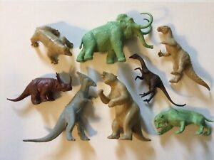 60s Marx RARE 2nd series complete set Dinosaur Prehistoric mammal Playset Marx