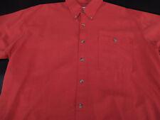 Columbia Mens Button Front Short Sleeve Orange Blend Sportswear Shirt Large L