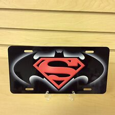 BATMAN SUPERMAN NOVELTY VANITY LICENSE PLATE MADE IN U.S.A.