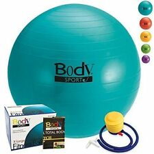 NEW BodySport Exercise Fitness Ball Pilate Yoga 85 cm Extra Large - With Pump