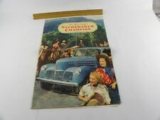 Vintage Original 1940 Studebaker Champion Sales Brochure Folder