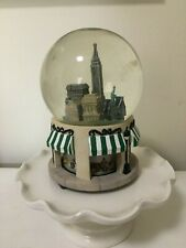 Vintage New York City Lord & Taylor Revolving Musical Snow Globe