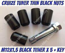 Black Locking Wheel Nuts and Key for Hyundai Amica Alloy Wheels