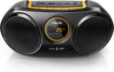 Philips Rechargeable Portable Wireless Speaker Bluetooth USB SD FM Radio AT10