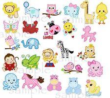 25 cute animals applique machine embroidery design CD #1