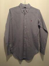 14.5 Camisa Ralph Lauren Blue Classic Fit Towie/Smart/Deporte/Gimnasio/Fútbol RRP £ 120