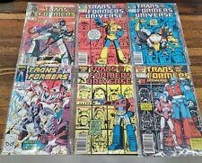 Rare Marvel Comics Comic Books Lot Run • TRANSFORMS UNIV. Vintage 1980s ☆ NM+Up!