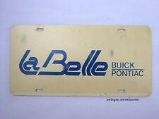 BUICK PONTIAC LABELLE Plastic Vanity Vintage License Plate
