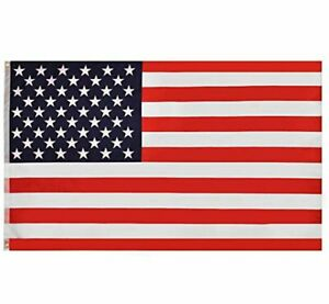 RainRoad American US State Flag 3x5 ft, Printed Polyester US Military Banner f